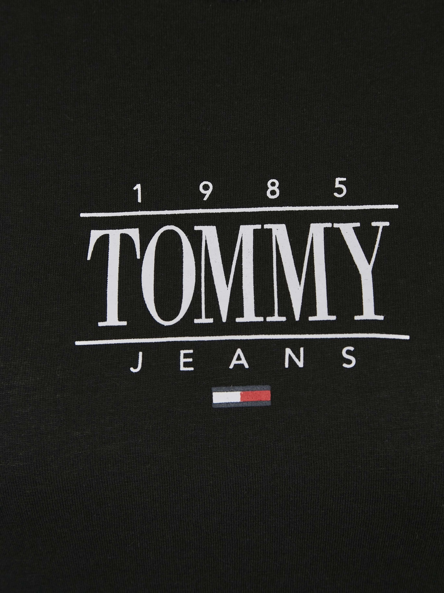 Tommy Jeans Essential Logo majica crna