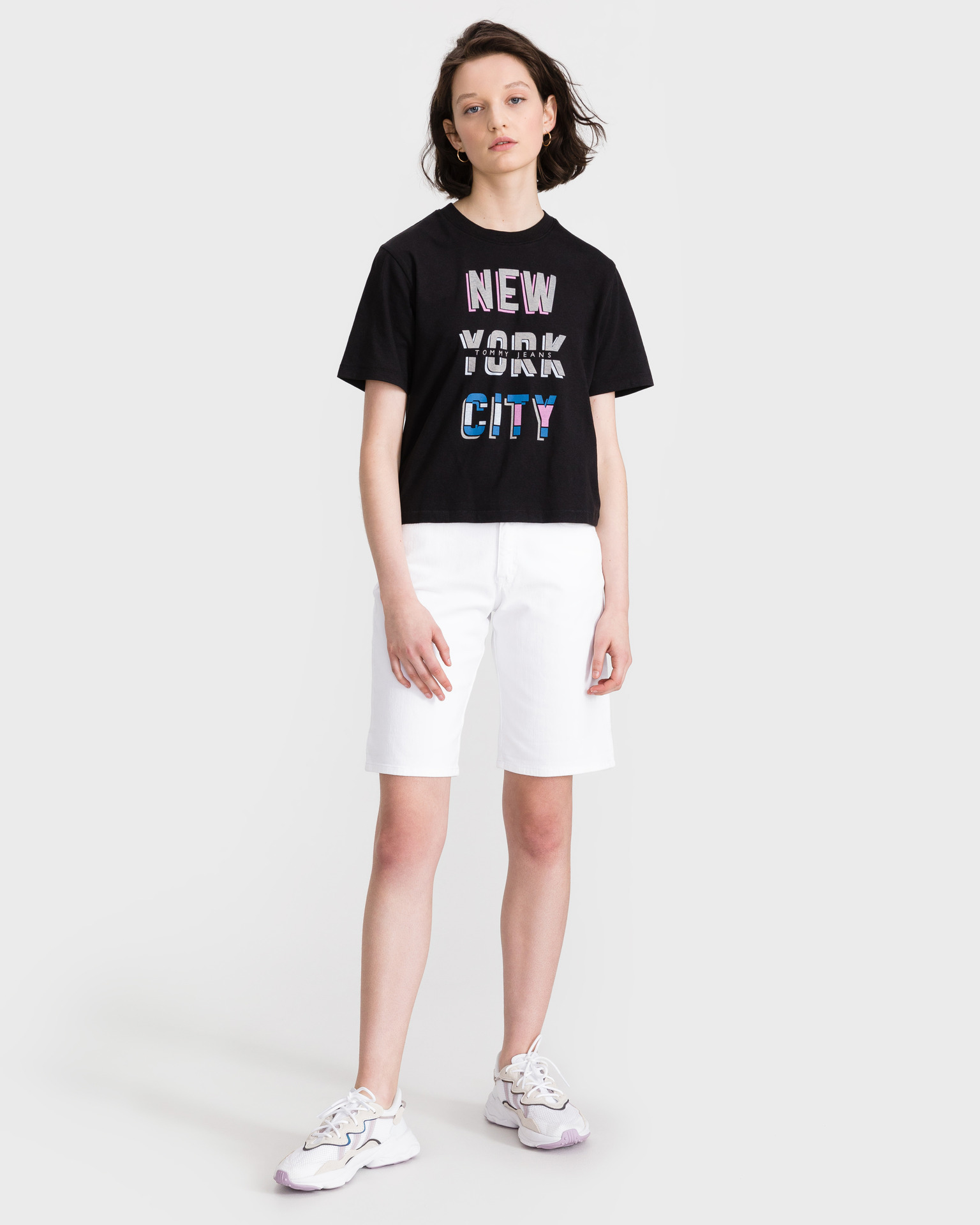 Tommy Jeans New York City Crop top Crna