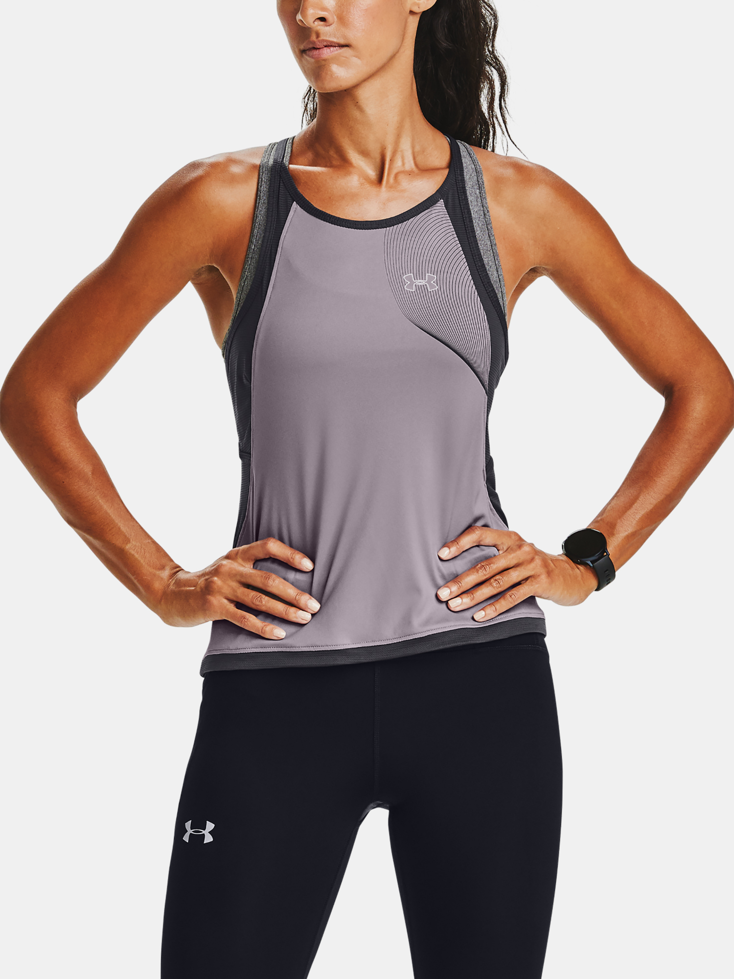 Top Under Armour W  Qlifier ISO-CHILL Tank-PPL