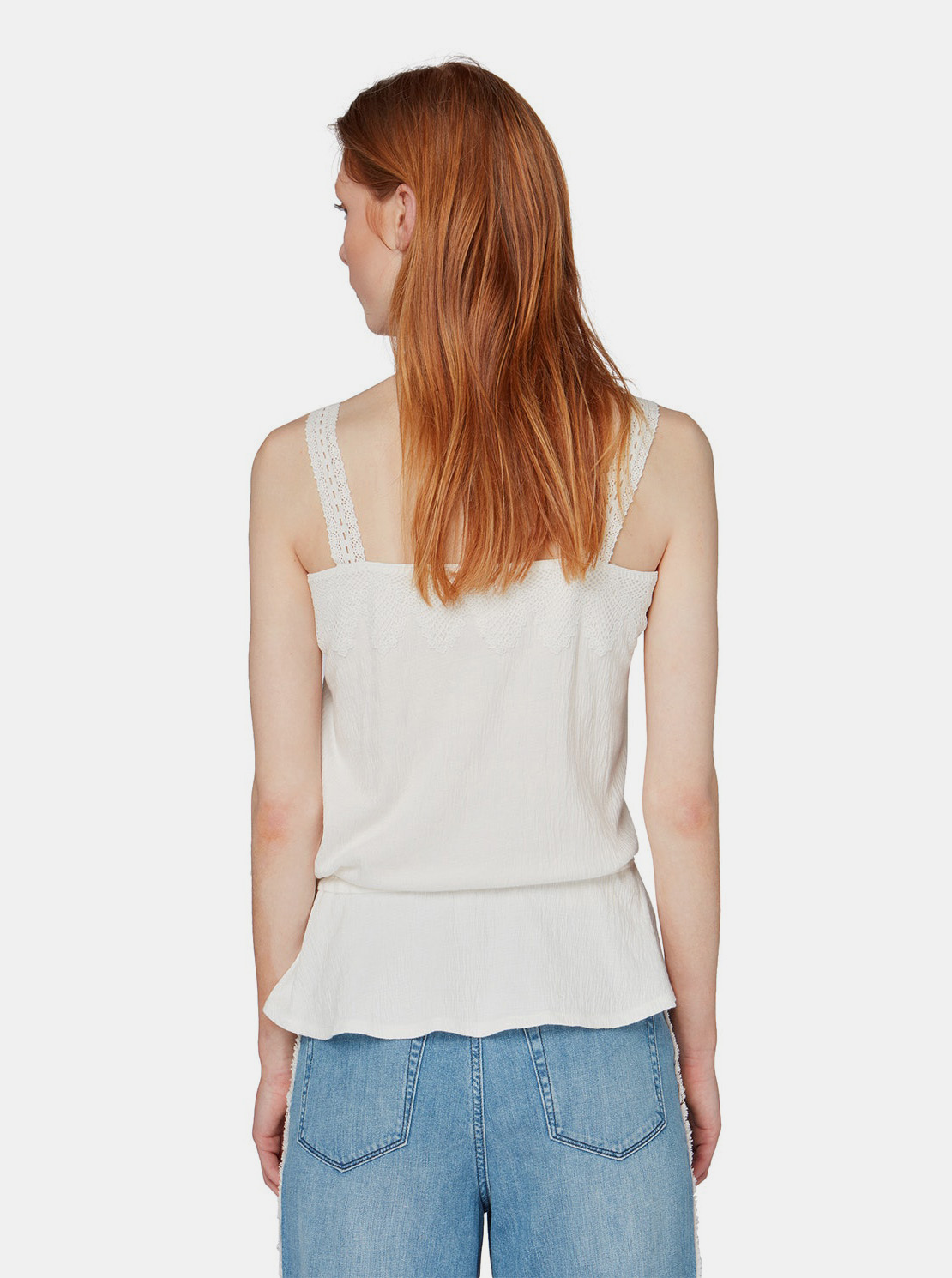 Krema top s ruffle Tom Tailor Denim