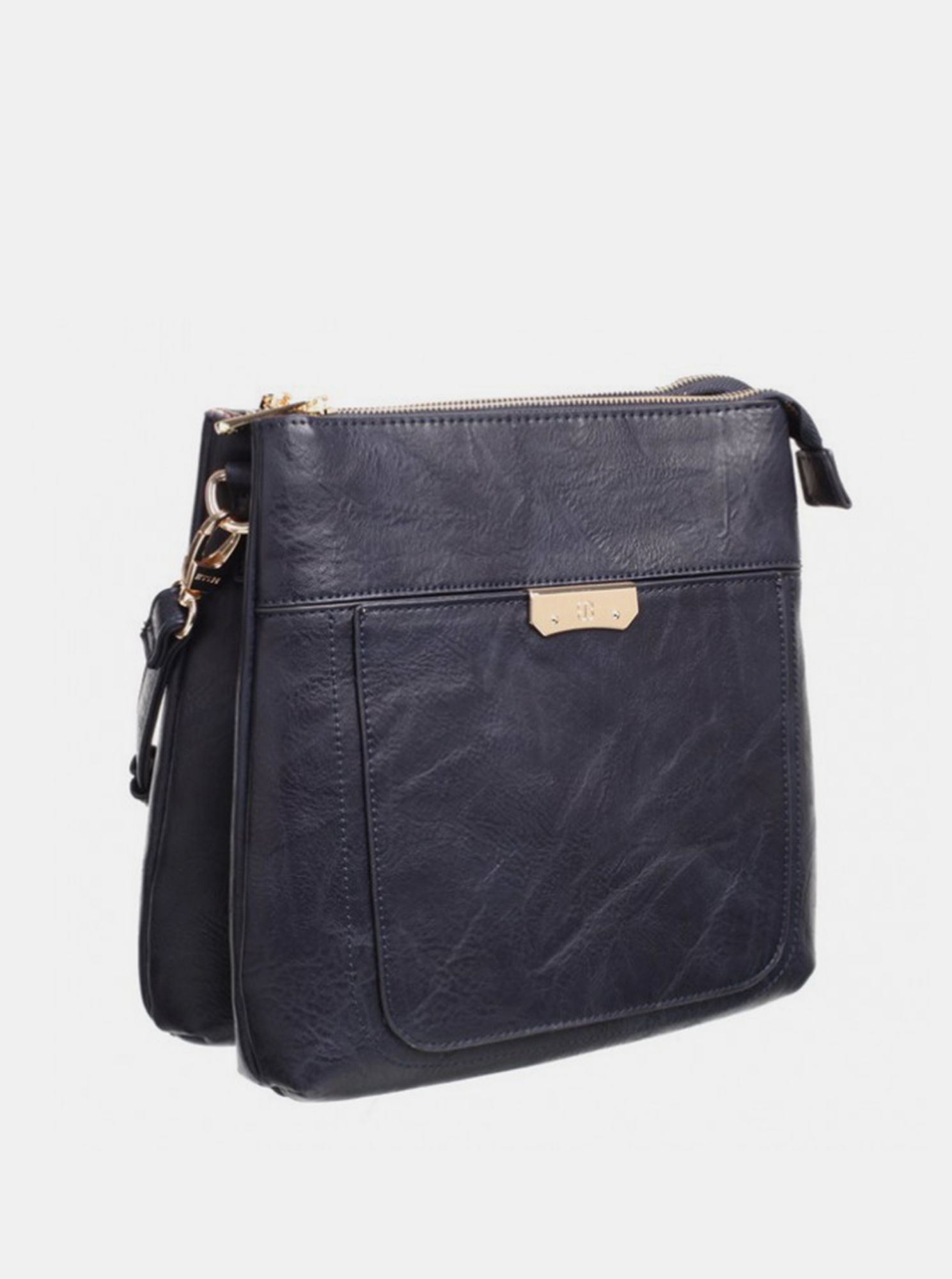 Tamnoplava torbica Crossbody Bessie London