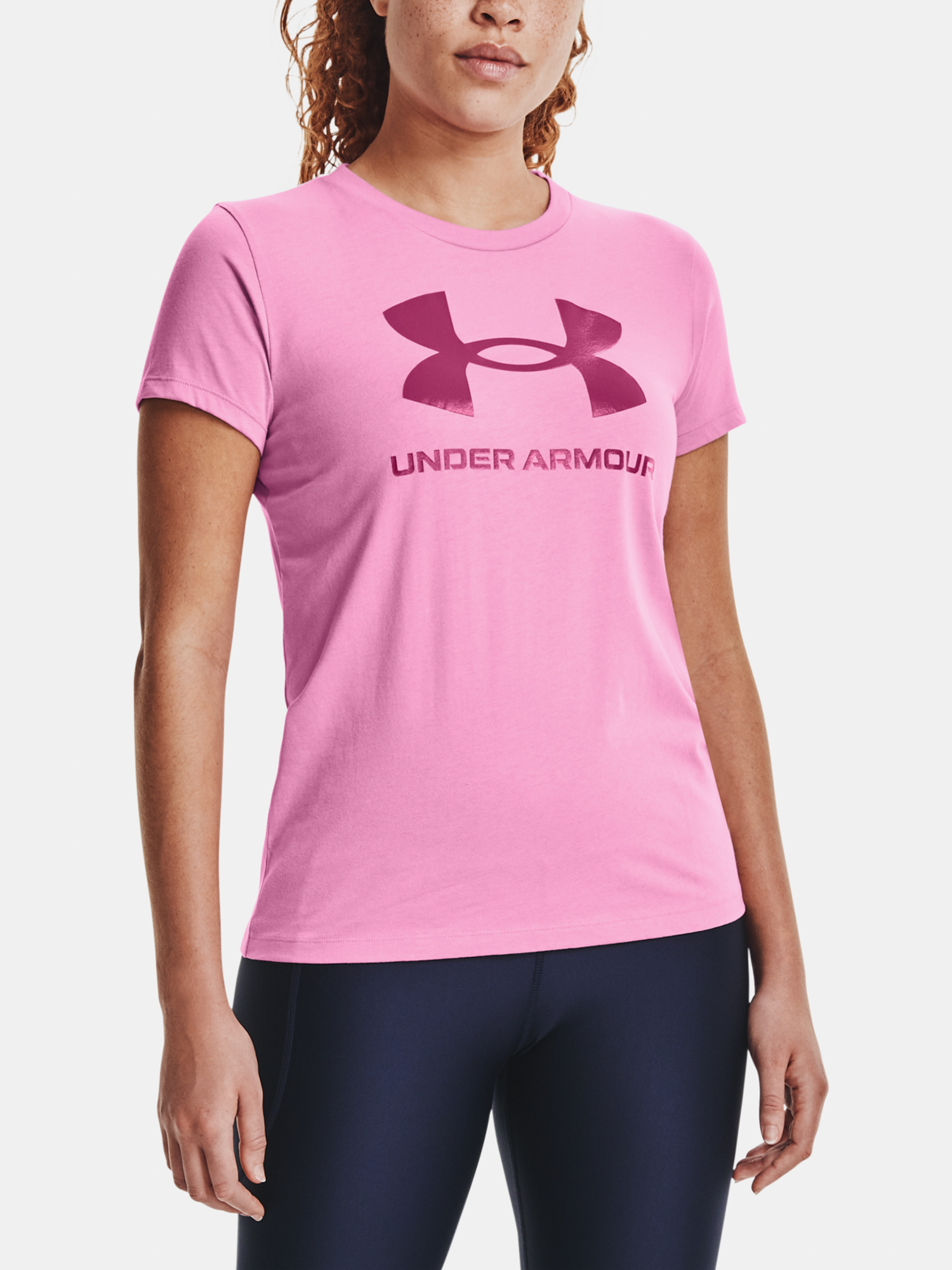 Majica Under Armour Live Sportstyle Graphic SSC-PNK