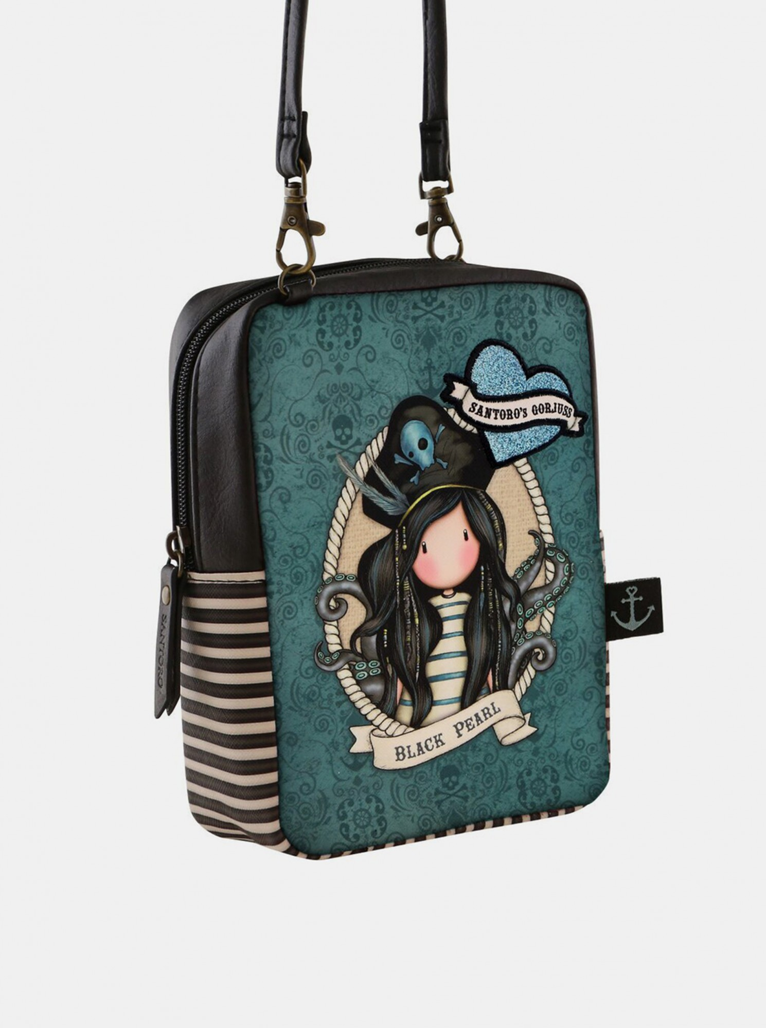 Santoro plava crossbody torbica Gorjuss Pirates Black Pearl